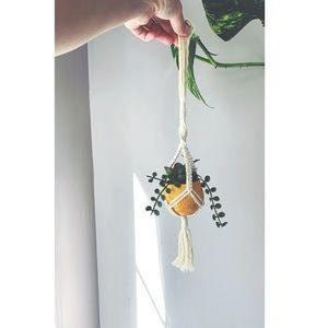 Handmade Mini Macrame Rearview Mirror Plant Hanger